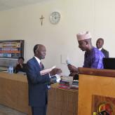 Adedayo Thomas at Uganda's Martyrs University in April